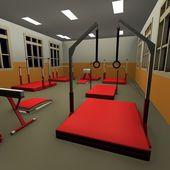 Interior do ginásio — Fotografia Stock