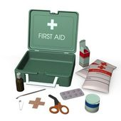 First aid kit box — Stock Photo