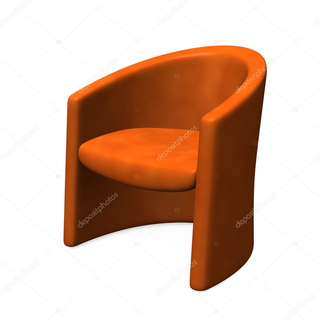 3d render of orange chair — Stock Photo #10074639