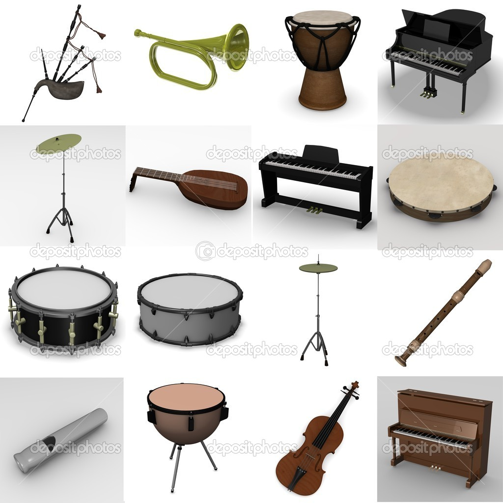 3d render of musical instrument  Stock Photo #10075415