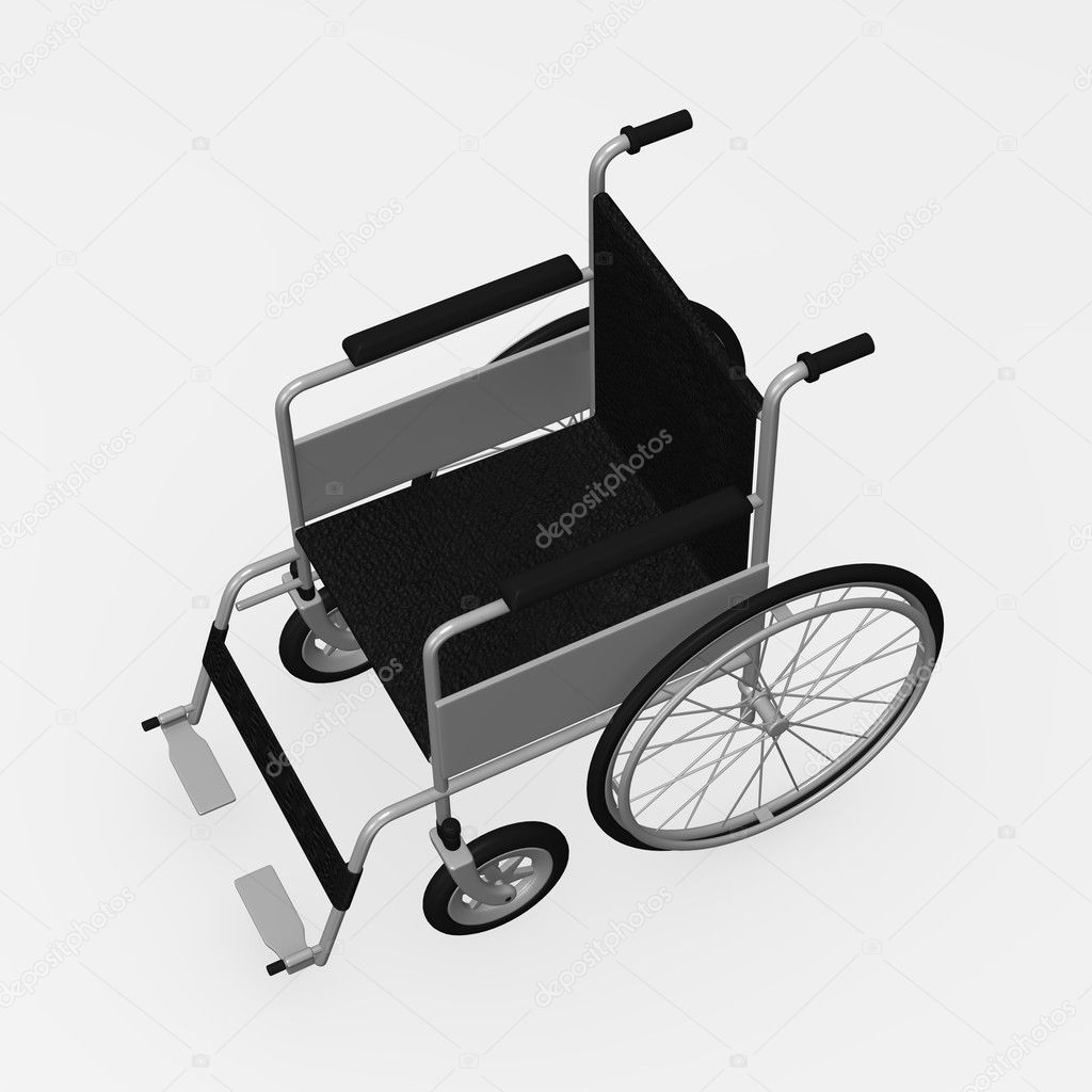 3d render of wheel chair — Stock Photo #10075591