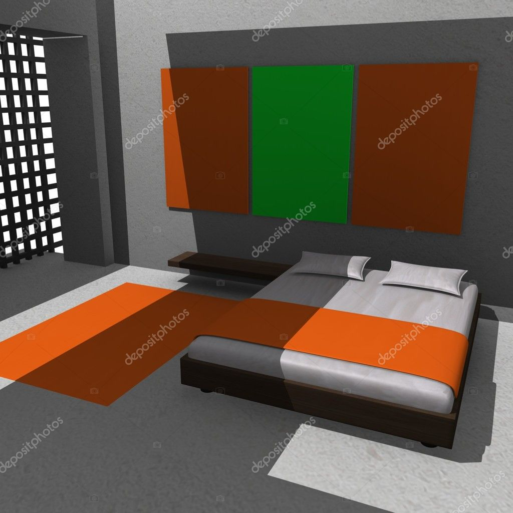 3d render of bed room — Stock Photo #10076790