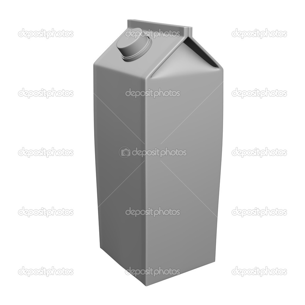 3d render of box tetrapack   #10077540