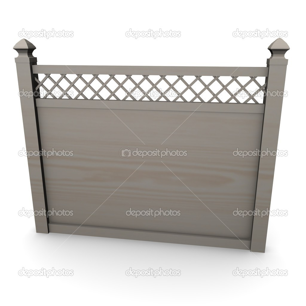 3d render of fence (architecture exterior element)  Stock Photo #10078916