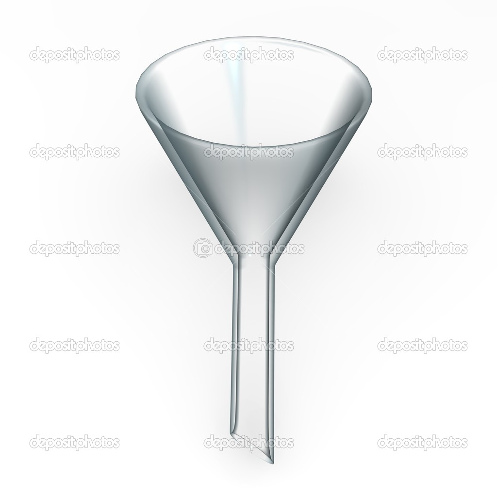 3d render of lab funnel — Stock Photo #10079642