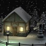 Snow globe (scene) — Stock Photo