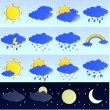 Stock Photo: Weather icons