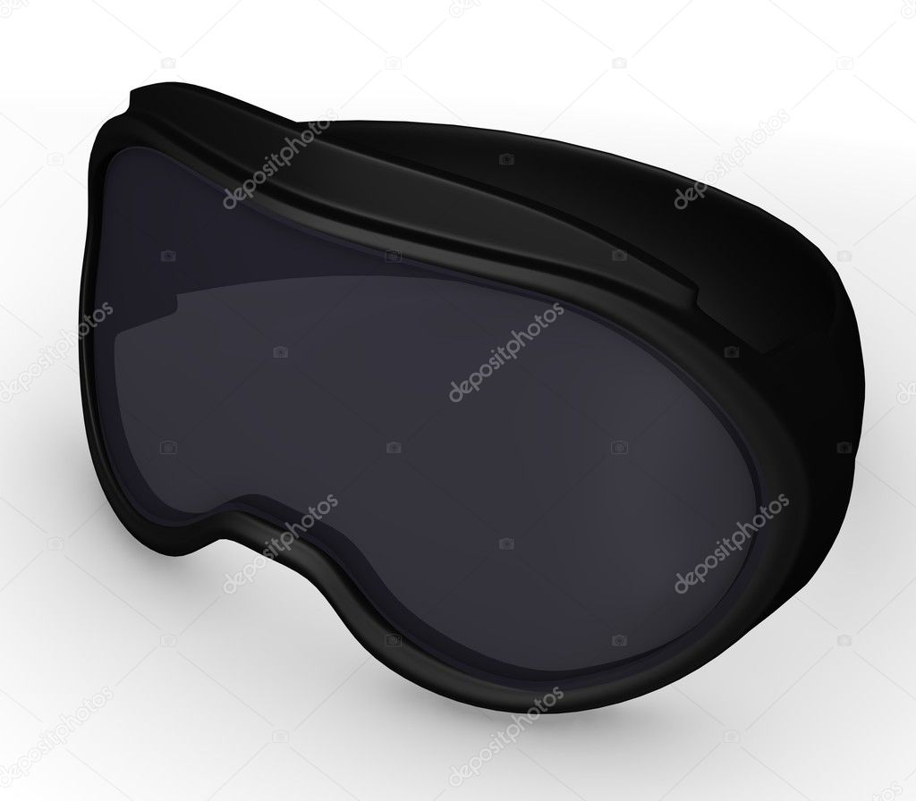 3d render of ski glasses — Stock Photo #10081362