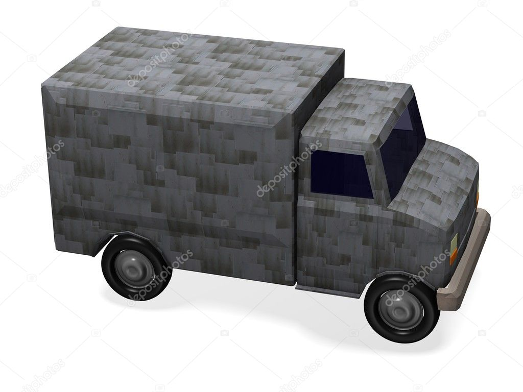 3d render of armed truck — Stock Photo #10082287