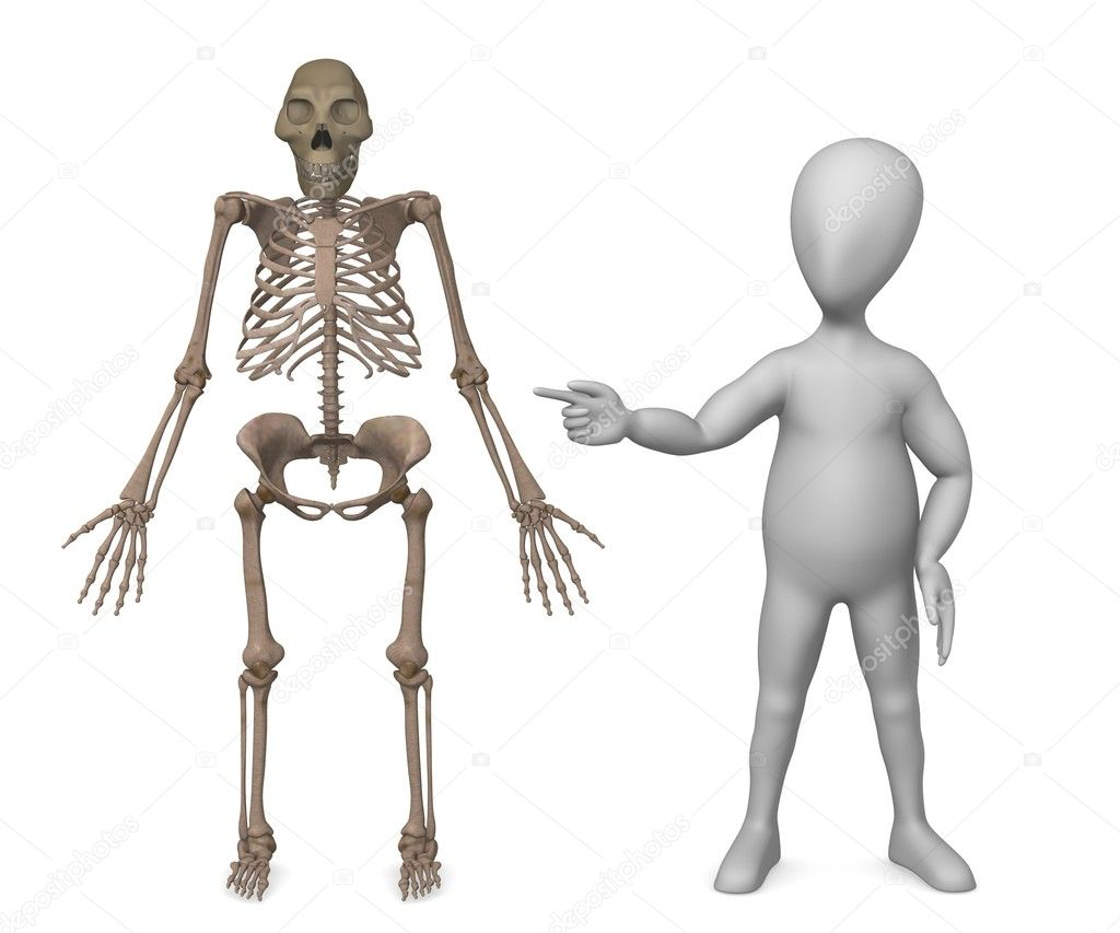 3d render of character showing on australopithecus — Stock Photo #10082988