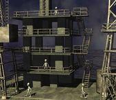 Wasser drilling rig — Stockfoto