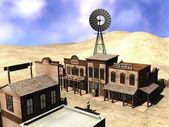 Western town — Stock Photo