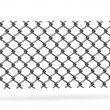 Foto Stock: 3d render of chain fence