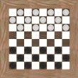 Stock Photo: 3d render of checkers game