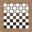Foto Stock: 3d render of checkers game