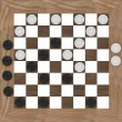 3d render of checkers game — Foto Stock