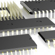 3d render of micro processor — Stock Photo