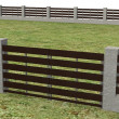 3d render of fence on ground — Stock Photo