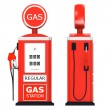 Foto Stock: 3d render of gas station
