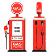 Foto de Stock  : 3d render of gas station