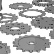 Stock Photo: 3d render of industrial parts