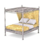 3d render of antique bed — Stock Photo