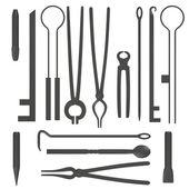 3d render of blacksmith tools — Stock Photo