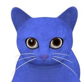 3d render of cartoon cat — Stock Photo