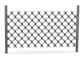 3d render of chain fence — Stock Photo