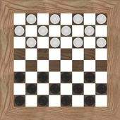 3d render of checkers game — Stock Photo
