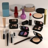 3d render of cosmetics collection — Stock Photo