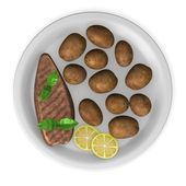 3d render of artificial food — Stock Photo