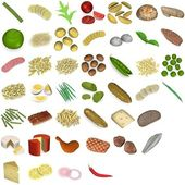 3d render of large food collection — Stock Photo