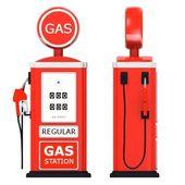 ガソリン スタンドの 3 d レンダリング — ストック写真