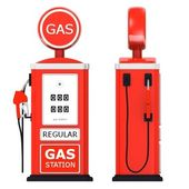 3d render för bensinstation — Stockfoto