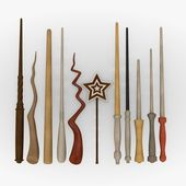 3d render of magic wands — Stock Photo