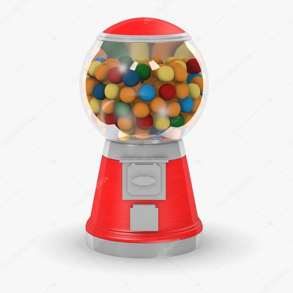 Old fashioned bubble gum machine 68