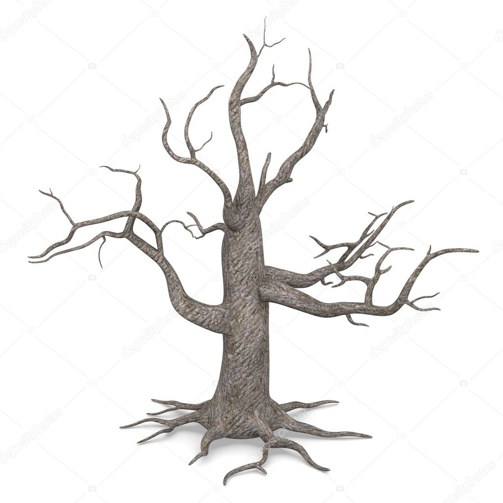 3d render of dead tree — Photo #10697989