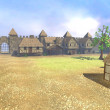 3d render of medieval town — Foto Stock