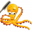 3d render of octopus character — Stock Photo