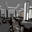 3d render of restaurant interior — Stock Photo