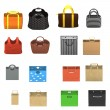 3d render of hand bags — Foto Stock