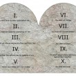 Foto Stock: 3d render of ten commandments