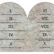 Stockfoto: 3d render of ten commandments