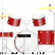 3d render of drum set - Stok fotoğraf