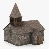 3d render of medieval building — 图库照片