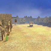 3d render of medieval town — Stock Photo