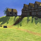 3d render of medieval town — Foto de Stock
