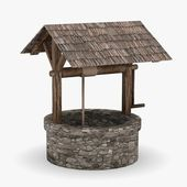 3d render of medieval well — Stock Photo