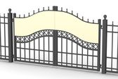 3d render of fence gate — Stock Photo